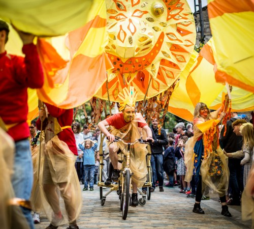 2016 Hebden Bridge Handmade Parade, design by Sue Walpole; photo by Graham Wynne
