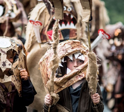 2016 Hebden Bridge Handmade Parade, design by Kerith Ogden; photo by Graham Wynne