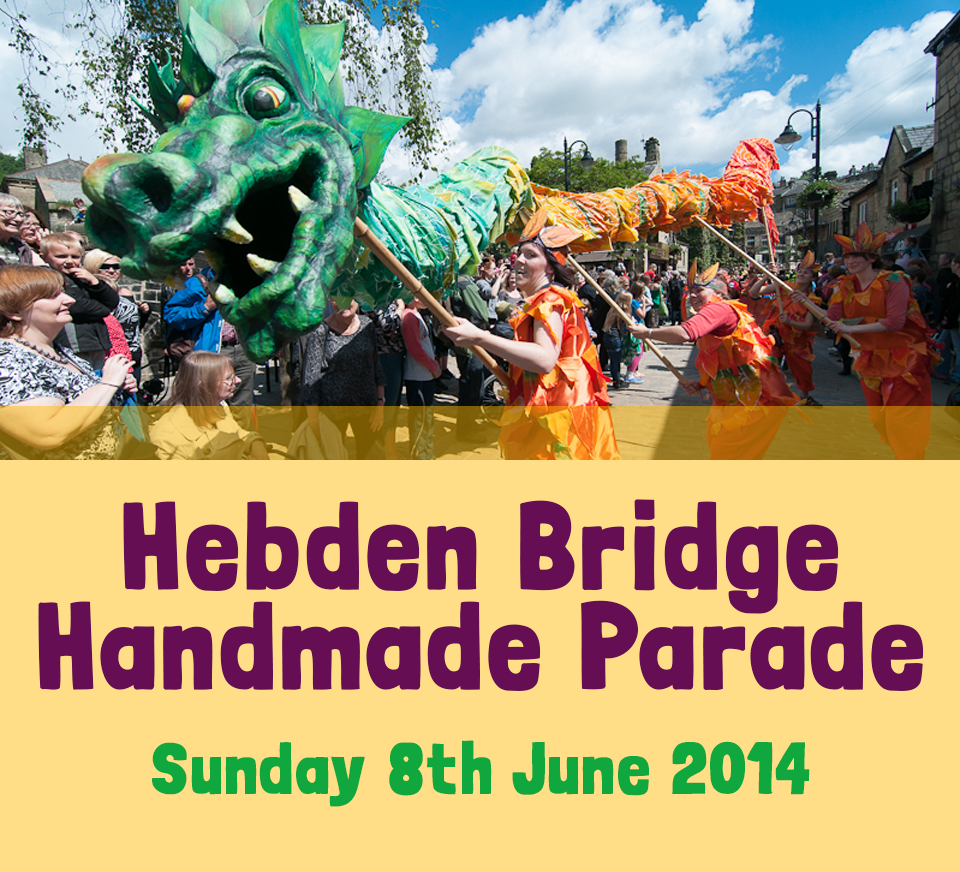 Hebden Bridge Handmade Parade 2014 BUTTON