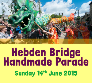 Hebden Bridge Handmade Parade BUTTON