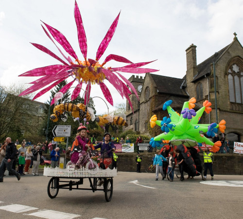 Carousel by Ian Broscomb, Jonny Quick and Alison Duddle; inflatables by Spacecadets; photo by Ian Hodgson